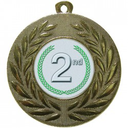 Gold 2nd Place Medal 50mm