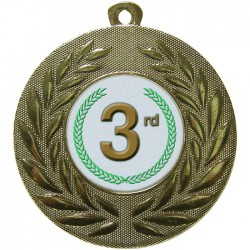 Gold 3rd Place Medal 50mm
