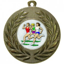 Gold Female Athlete Medal 50mm