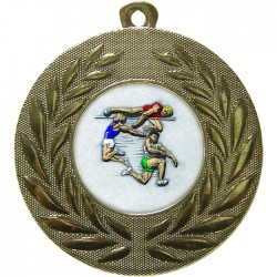 Gold Jumping Athlete Medal 50mm