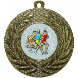 Gold Male Athlete Medal 50mm