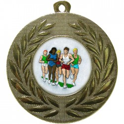 Gold Marathon Medal 50mm