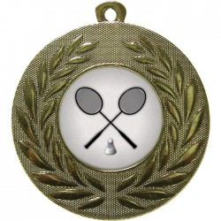 Gold Badminton Medal 50mm