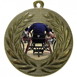 Gold Wheelchair Basketball Medal 50mm