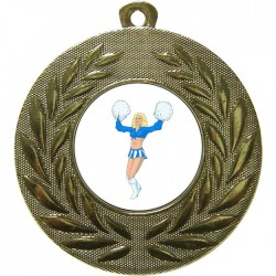 Gold Cheerleader Medal 50mm
