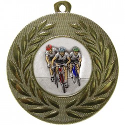 Gold Cycling Medal 50mm