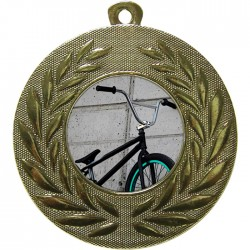 Gold BMX Medal 50mm