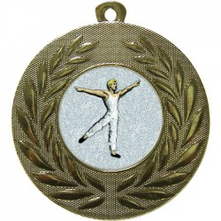 Gold Male Dance Medal 50mm