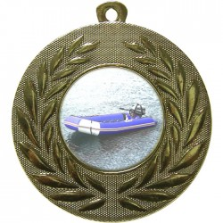Gold Rubber Dinghy Medal 50mm