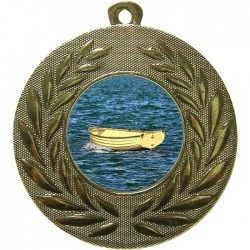 Gold Wooden Dinghy Medal 50mm