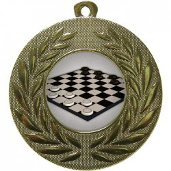 Gold Draughts Medal 50mm