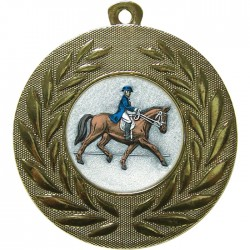 Gold Dressage Medal 50mm
