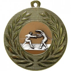 Gold Fencing Medal 50mm