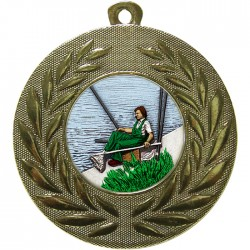Gold Fishing Medal 50mm