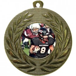 Gold American Football Medal 50mm