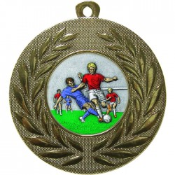 Gold Male Football Medal 50mm