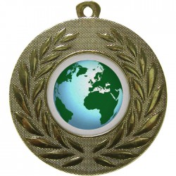 Gold Globe Medal 50mm