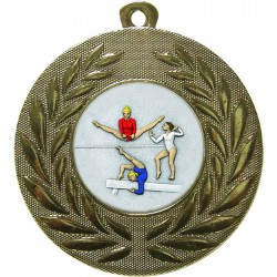 Gold Female Gymnastics Medal 50mm