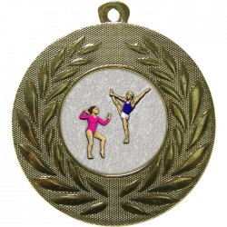 Gold Gymnastics Floor Medal 50mm