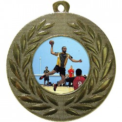 Gold Handball Medal 50mm