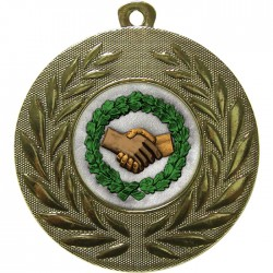 Gold Handshake Medal 50mm