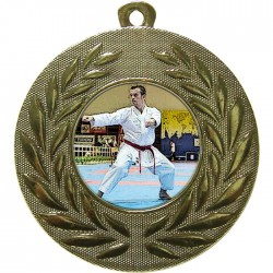 Gold Karate Medal 50mm