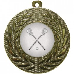 Gold Lacrosse Medal 50mm