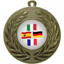 Gold Languages Medal 50mm
