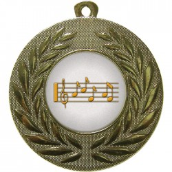 Gold Music Medal 50mm