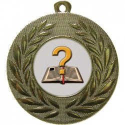 Gold Quiz Medal 50mm