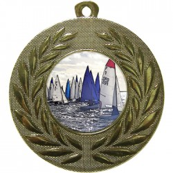 Gold Sailing Medal 50mm