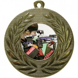 Gold Rifle Shooting Medal 50mm
