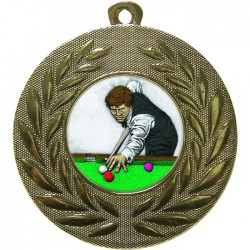 Gold Snooker Medal 50mm