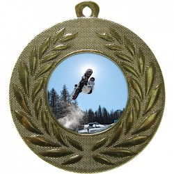 Gold Snowboarding Medal 50mm