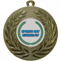 Gold Sports Day Runner Up Medal 50mm