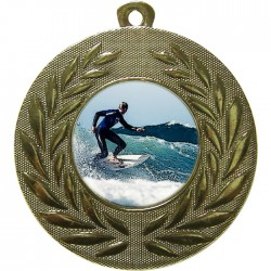 Gold Surfing Medal 50mm