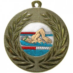Gold Swimming Medal 50mm