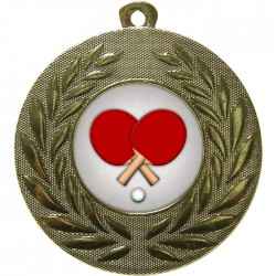 Gold Table Tennis Medal 50mm