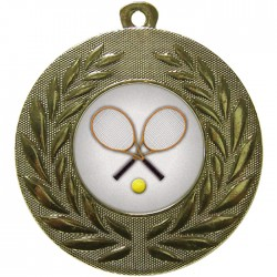 Gold Tennis Medal 50mm