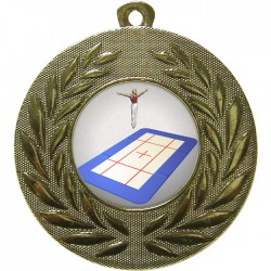 Gold Trampolining Medal 50mm