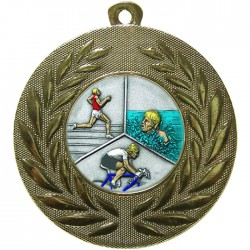 Gold Triathlon Medal 50mm