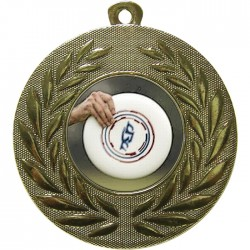 Gold Frisbee Medal 50mm