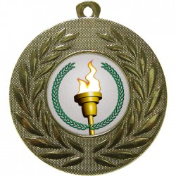 Gold Victory Torch Medal 50mm