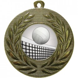 Gold Volleyball Medal 50mm