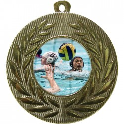 Gold Water Polo Medal 50mm