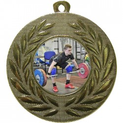Gold Weightlifting Medal 50mm