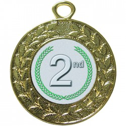 Gold 2nd Place Medal 45mm