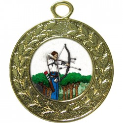 Gold Archery Medal 45mm