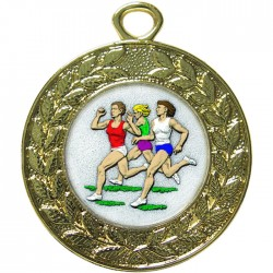 Gold Female Athlete Medal 45mm