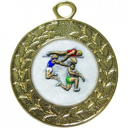 Gold Jumping Athlete Medal 45mm